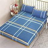 FJMLAY Sábanas ajustablesperfecto para el colchón, sensación Suave,Sábanas de algodón para Cama, Almohadillas de...