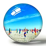 Frankreich Magnet Deauville 3D Kühlschrank Magnete Souvenir Collection Reise Geschenk Kreis Kristall Kühlschrank Magnete