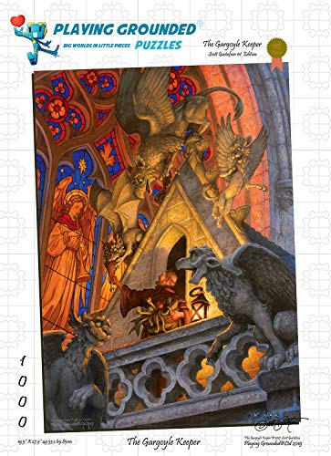 Playing Grounded Limited Edition Jigsaw Puzzle 1000 Pieces The Gargoyle Keeper by Scott Gustafson Fantasy Jigsaw Puzzle