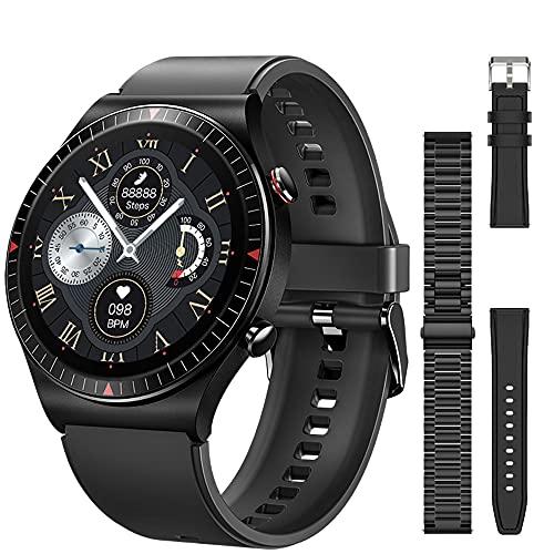 Bluetooth Call T7 Smart Watch Musmusikspelare SmartWatch 2021 IP67 Vattentät röstassistent för Mäns Android Ios, Monsteramy (Color : Add 2 straps)