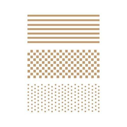 TODO-STENCIL Deco Fondo 001 Rayas,Topos,Cuadrados, Medidas 20 x 30 cm - Diseño 17 x 24,7 cm