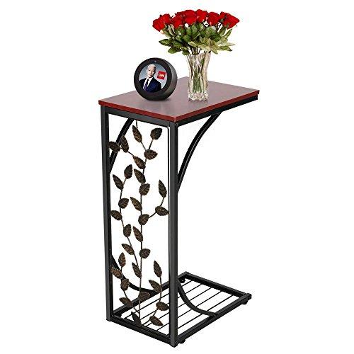 Yaheetech U Form Beistelltisch Couchtisch Laptoptisch Kaffeetisch Seitentisch Betttisch Pflegetisch, 21 x 30,5 x 53 cm