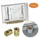 ruthex® inserto filettato M2 (70 pezzi)   Boccole filettate in ottone RX-M2x4   Dado a pr...
