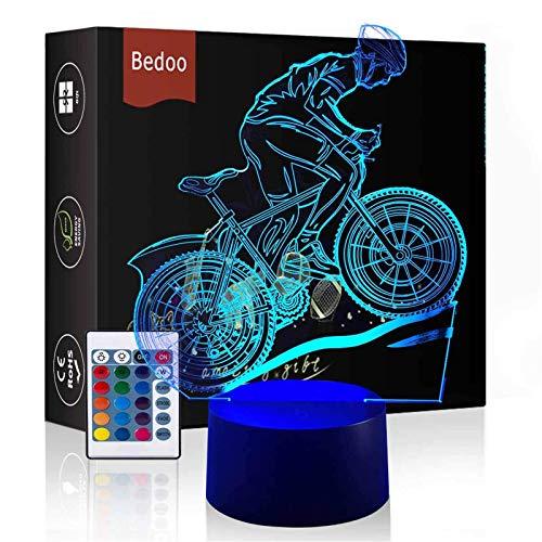 Bedoo Magie Flying Bike Lampe 3D Illusion 16 Farben Touch-schalter USB Einsatz LED-Licht Dekoration