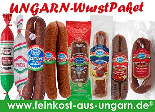Ungarn Wurst-Paket Groß, 8 verschiende Sorten Ungarische Salami,Kolbasz
