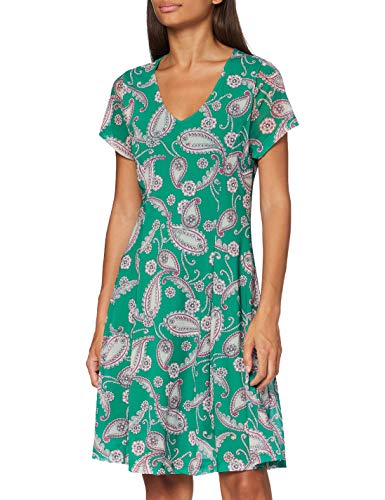 #OneMore Story Paisley Kleid mit V-Ausschnitt, Jelly Green Multicolor, 40