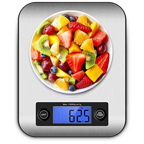 Küchenwaage Digital Digitalwaage Digitale Küchenwaage Professionelle Waage Electronische küchenwage, Haushaltswaage mit LCD Display-wunderbare Präzision auf bis zu 1g - 10kg Maximalgewicht weiß