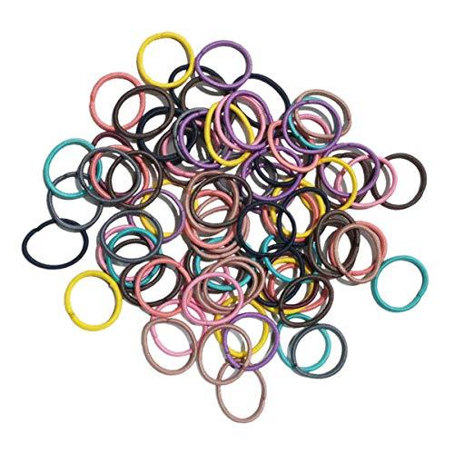 Lot de 80 élastiques à cheveux - Pour queue de cheval - Pour femme et enfant - Multicolore