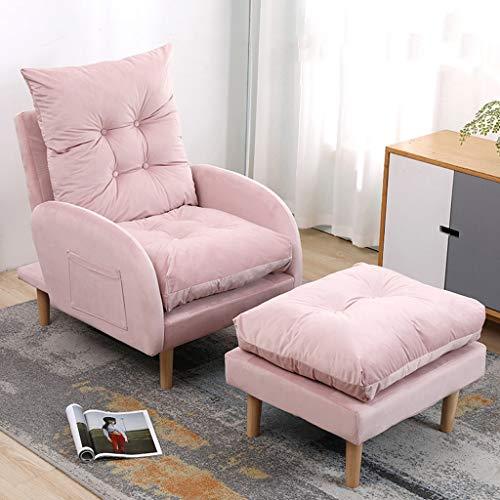 WEN Sofá Perezoso, Apartamento pequeño sofá Silla de salón del balcón del Dormitorio Silla reclinable Silla Sillones y chaises Longues (Color : B)