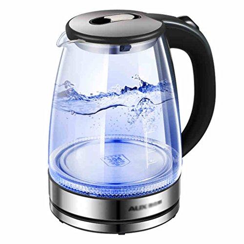 Bouilloire électrique ménagère grand verre de borosilicate automatique mise hors tension en acier inoxydable 1.8 litres bouilloire à grande capacité