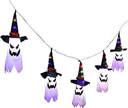 Halloween Decoratie Fairy Lights, 3M Outdoor Opknoping Gloeiende Ghost Hat Fairy Lights, Batterij aangedreven Halloween De...