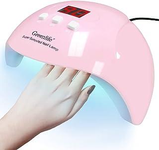 GreenLife 54W UV LED Nail Drying Lamp Nail Machine Phototherapy، خشک کن سریع ناخن حرفه ای خشک کننده چراغ های دوتایی منبع ژل لهستانی سنسور خودکار ابزار ناخن هنر برای مانیکور پدیکور