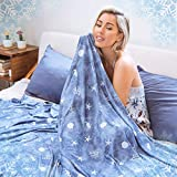 Cooling Blanket with Double Sided Cold, Throw Blankets for Couch and Bed, Lightweight Breathable Summer Coastal Beach Theme Blanket,Transfer Heat for Hot Sleepers Night Sweats, with Travel Bag