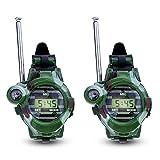 Yililay Radio Reloj 2 PCS portátil para los niños Dispositivo transceptor de Largo Alcance Ca Juegos al Aire Libre del ejército 150 Metros Juguetes y Juegos