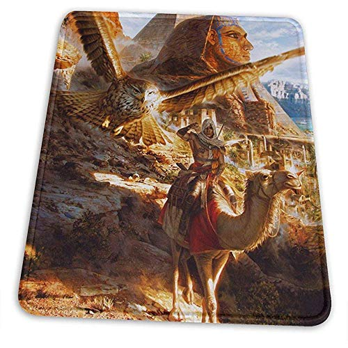 Assassin'S Creed Origins Gaming Mouse Mat Pad Pad Mousepad único Teclado de computadora Ideal para la Cubierta del Escritorio Alfombrillas...
