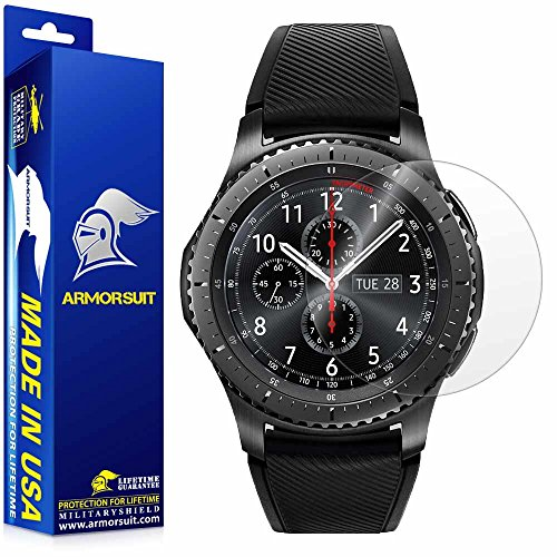 ArmorSuit Samsung Gear S3 Frontier Screen Protector (2 Pack) Full Coverage MilitaryShield Screen Protector for Gear S3 Frontier -HD Clear Anti-Bubble