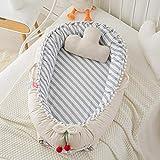 FREEDOH Cuna Plegable, cómoda Cama de bebé extraíble y Lavable El sillón reclinable de algodón para recién Nacidos Puede Promover el sueño del bebé, Adecuado para Viajes en el Dormitorio,B