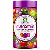 NUTRAMIN Daily Vegan Keto Multivitamin Gummies Vitamin C, D3, and Zinc for Immunity, Plant-Based, Sugar-Free, Nut-Free, Gluten-Free, with Biotin, Vitamin A, B, B6, B12 & More 90 Count, 45 Day Supply