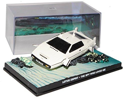 Ixo Lotus Esprit Weiss Der Spion der Mich liebte James Bond 007 1/43 Modell Auto
