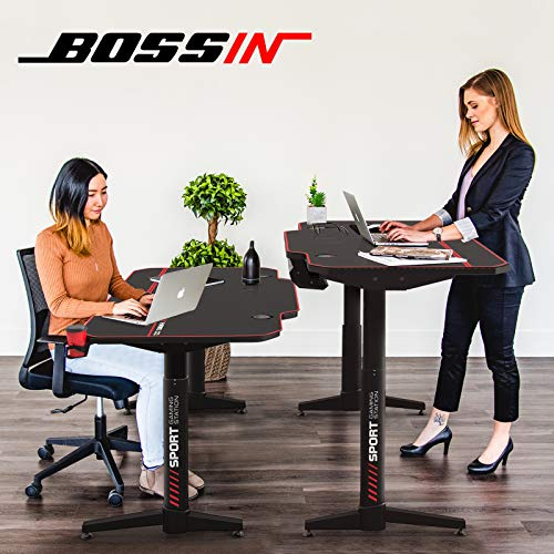 BOSSIN 55 x 26 Inches Height Adjustable Electric Standing Desk
