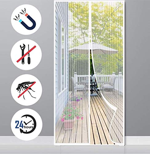 Mosquitera Magnética para Puertas,80x225cm Cierre Automáticamente Evita Paso de Insectos,Malla Fina para...