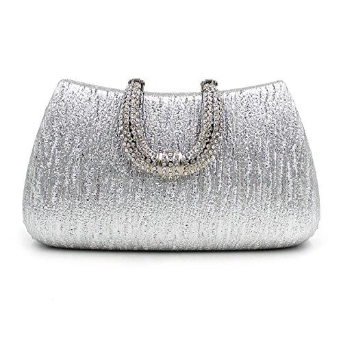 Kigurumi Bolso de Mano Fiesta para Mujer/Elegante Diamantes Bolsa de Noche