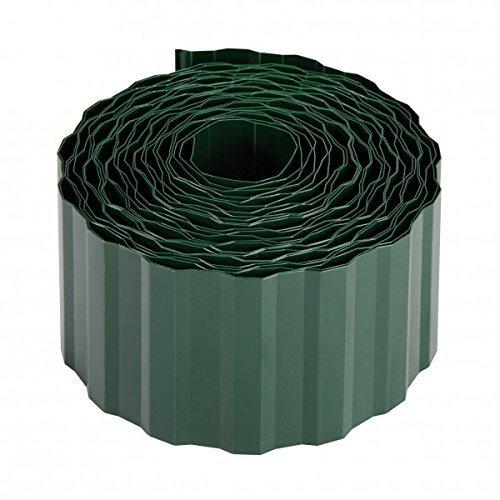 Xclou Rasenkante in Grün, Beetumrandung aus umweltfreundlichem PET, robuste Beeteinfassung, Mähkante ca. 9 m lang