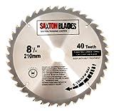 Saxton TCT Lame de scie circulaire à bois 210 mm x 30 mm x 40 T pour Festool Bosch Makita Dewalt Convient aux scies de 216 mm
