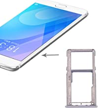 Meizu Spare SIM Card Tray for Meizu M6 Note(Black) Meizu Spare (Color : Silver)