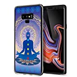 Cocomong Chakra Yoga Case Compatible with Samsung Galaxy Note 9 Case, Clear Soft TPU Mandala Phone Case for Galaxy Note 9(2018) Design for Women Men