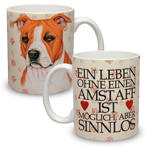 Kaffeebecher mit Motiv Hund Große XXL Tasse Amstaff