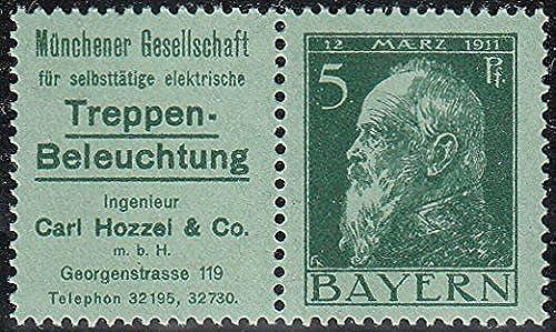 Goldhahn Bayern W 1.12 postfrisch  Briefmarken für Sammler