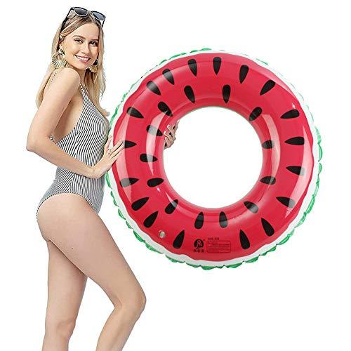Schwimmring,Kinderschwimmring,Schwimmring für Erwachsene,aufblasbarer Wassermelonen-Schwimmring,aufblasbarer Schwimmring,für Schwimmbad, Strand, Außendurchmesser 90cm