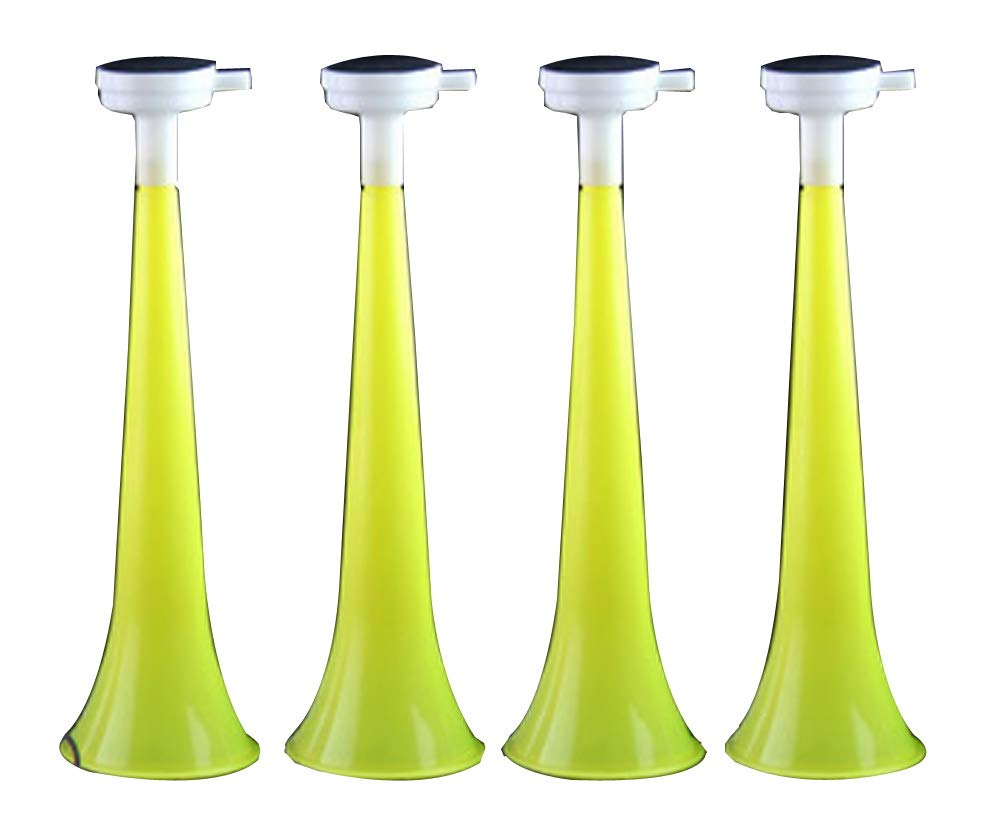 Black Temptation Juego de 10 Plastic Vuvuzela Stadium Horn Noise Maker para Juegos de fútbol: Amazon.es: Juguetes y juegos