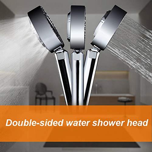 Dubbelzijdige waterbesparende hogedruk-douchekop onder de badkamer, badkamer-bad onder druk douche, badkamer-douchekop,