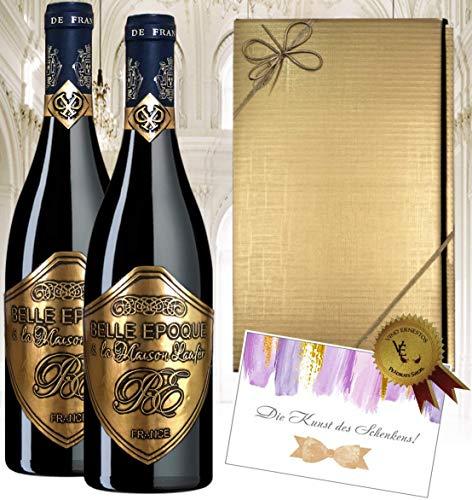 2er Rotwein Belle Epoque á la Maison Laufèr Geschenkset Bordeaux Frankreich