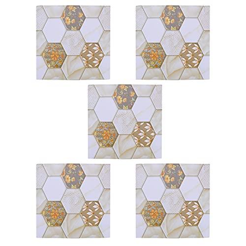 Garneck 5 Piezas de Adhesivos Cuadrados para Azulejos de Panal de Miel Flor de Abeja Adhesivos para Pared Adhesivos Adhesivos para Pared Adhesivos para Pared Impermeables Extraíbles