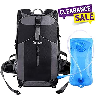 OXA 40L Hydration Backpack; Day Pack Perfect Camping, Hiking, Running, Cycling, Biking, Climbing, Hunting, Traveland Outdoor Activities,2 L Water Bladder Included; Sewn-in Rain Cover