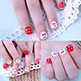 Zipkok Gel Nail Strips for Kids Nail Wraps Nail Stickers Mini Nail File Included (Cherry Jubilee)