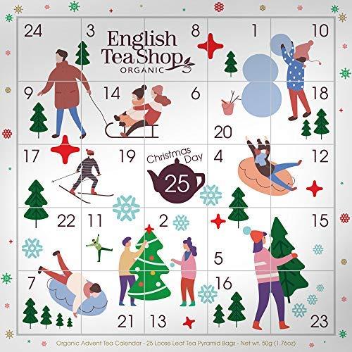 calendario avvento occitane English Tea Shop Calendario dell'Avvento con Immagini Componibili Tè del Natale in Cofanetto - 1 x 25 Bustine di Tè (50 Grammi)