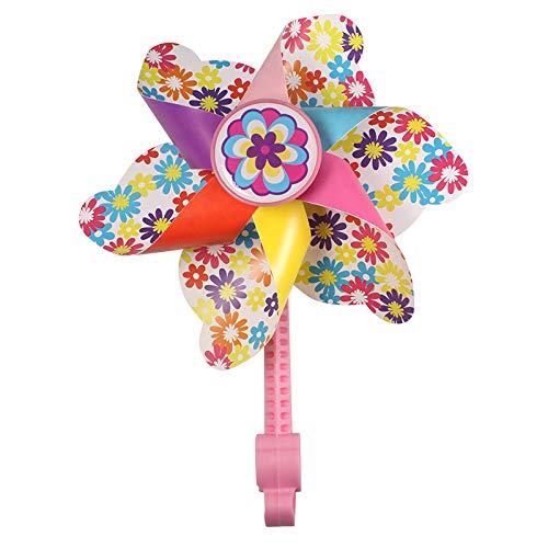 HILAND Fahrradlenker Flower Windrad für Kinder, Spinning Windrad Dekoration für12-16 Zoll kinderfahrrad