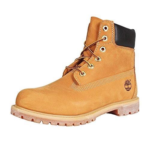 Timberland Damen 6 Zoll Premium wasserdicht Stiefel, Gelb (Wheat Nubuck), 40 EU