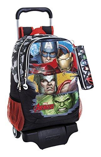 Marvel Avengers Assemble Zaino, 43 cm, Multicolore (Gris Y Negro)