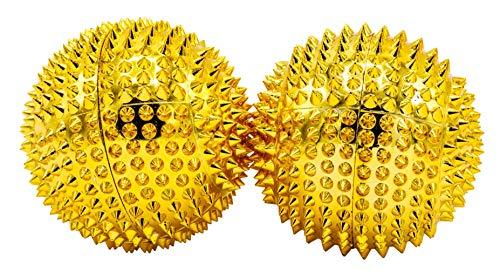 1 Paar magnetische Akupressurkugeln in gold mittelgroß, Durchmesser 47 mm
