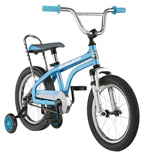 Schwinn Krate Evo Classic Kids Bike, 16-Inch Wheels, Boys and Girls Ages 3-5 Years, Removable Training Wheels, Coaster Brakes, Blue