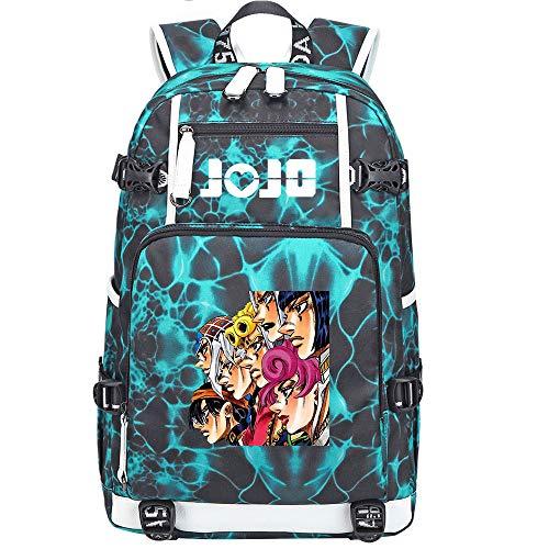 GOYING JoJo's Bizarre Adventure Jonathan Joestar/Joseph·Joestar Anime Backpacks Rucksack School for Men Women,Work,Tablet USB Unisex-H