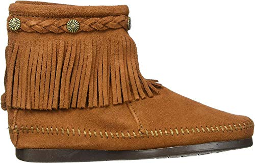 Minnetonka Minnetonka Hi Top Back Zip Boot 299 Damen Stiefel, Braun (Brown), 36.5 EU