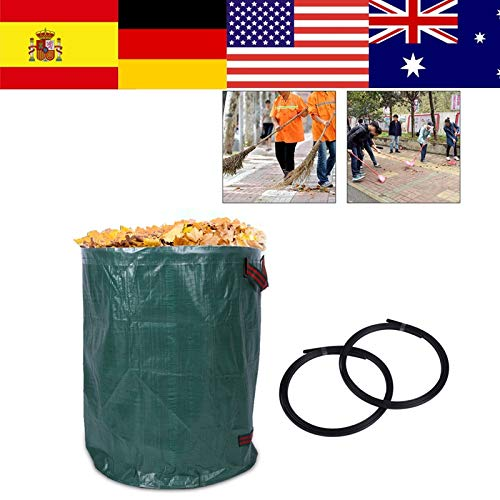 Best Price AloPW Yard Waste Bags 270L2 Portable Large Garden Woven Bag Waste Refuse Rubbish Grass Re...