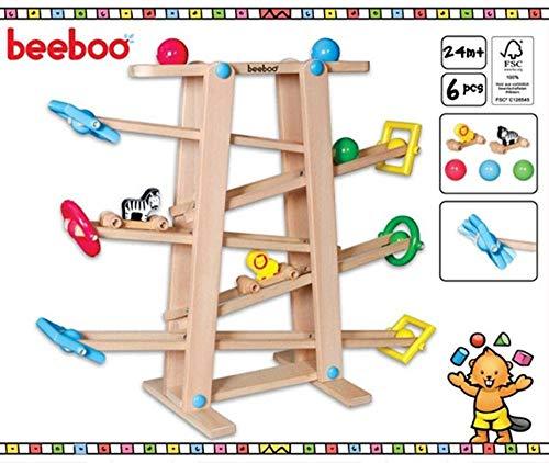 Vedes Beeboo Holz Kugelbahn mit Rollelementen
