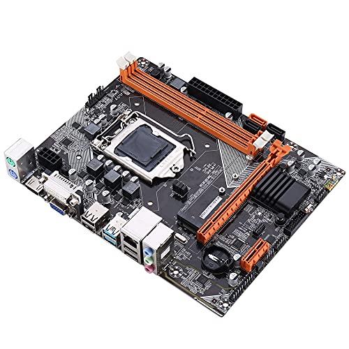 Riiai LGA 1155 Mainboard, B75 Desktop Computer Mmotherboard, soporte M.2 disco duro, memoria máxima 2 * 8G DDR3